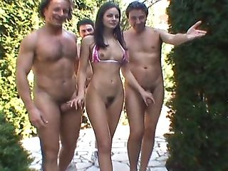 All Holes, Anal Sex, Ass, Big Cock, Blowjob, Brunette, Gangbang, Group Sex, Lucy Lee, Orgy,