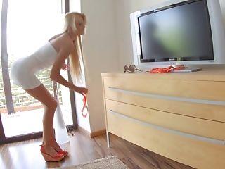 Beauty, Blonde, Cute, Czech, European, Ivana Sugar, Long Legs, Money, Posing, Skinny,