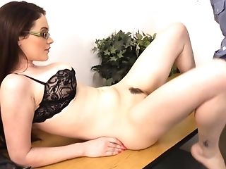 Babe, Blowjob, Brunette, College, Cute, Glasses, Hardcore, Teacher, Teen, Tessa Lane,
