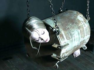 Babe, BDSM, Blonde, Bondage, Cage, Caning, Domination, Gagging, HD, Helpless,