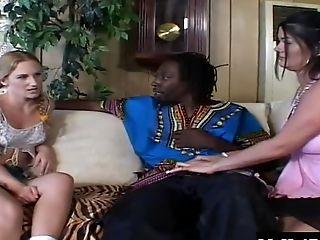 Babe, Black, Close Up, Cum In Mouth, Cumshot, FFM, Hardcore, Interracial, Threesome, White,