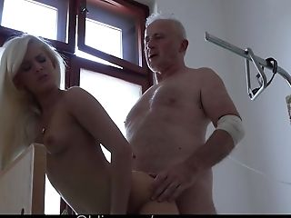Ass Licking, Big Tits, Blowjob, Clinic, Cumshot, Cute, Doctor, Doggystyle, Fucking, Grandpa,