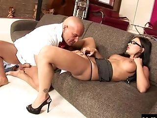 Ass, Big Tits, Couple, Cunt, Cute, Doggystyle, Glasses, Hardcore, High Heels, Long Hair,