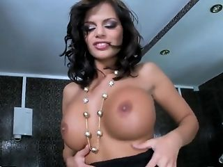 Bathroom, Big Tits, Black Angelika, Bold, Brunette, HD, Jerking, Masturbation, Solo,