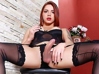 Black, Lingerie, Redhead, Seduction, Shemale, Stockings, Tranny,
