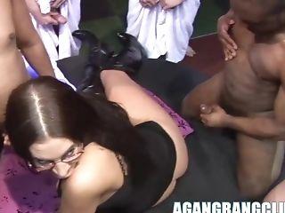 Big Tits, Emma Butt, Gangbang, Group Sex, Hardcore, Interracial, Orgy,