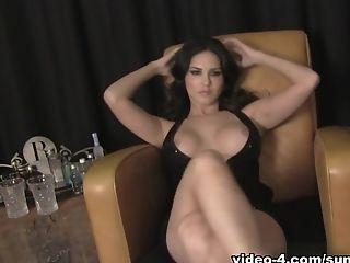 Babe, Big Ass, Big Tits, Brunette, Horny, Masturbation, Pornstar, Solo, Sunny Leone,