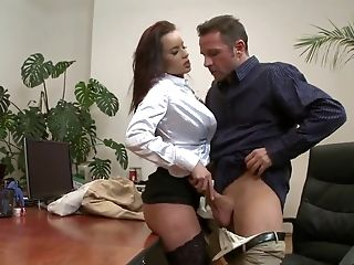 Big Tits, Brunette, Cindy Dollar, Cute, Czech, French, Hardcore, HD, MILF, Office,