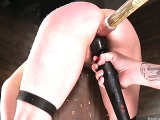 BDSM, Big Tits, Bondage, Brunette, Cherry Torn, Dildo, Hairy, HD, Moaning, Punishment,