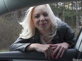 Beauty, Big Tits, Blonde, Blowjob, Car, Cum Swallowing, Flashing, HD, Hitchhiker, Kinky,