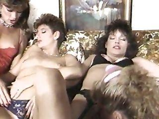 Foursome, Friend, Ginger Lynn, Lesbian, Orgy, Retro,