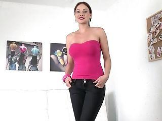 Abbie Cat, Audition, Babe, Beauty, Big Tits, Brunette, Casting, Couch, European, Gorgeous,