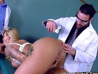 Anal Sex, Blonde, Doctor, Double Penetration, MILF, Ryan Conner, Sexy, Threesome,