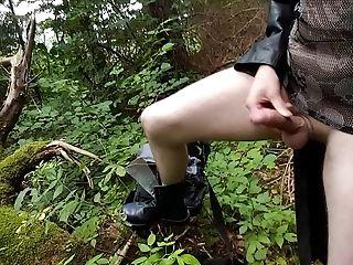 Amateur, Boy, Emo, Forest, Goth, Handjob, HD, Jerking, Masturbation, Nature,